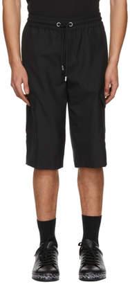 Versus Black Cargo Shorts