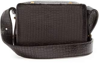 Lutz MORRIS Maya small crocodile-effect leather cross-body bag