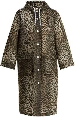 Ganni Leopard-print rain mac