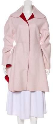 Giambattista Valli Wool Draped Coat