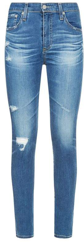 Farrah Distressed Skinny Ankle Jeans