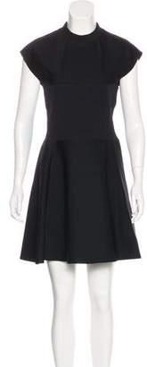 Paco Rabanne Sleeveless Wool Mini Dress