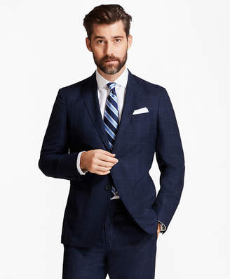 Brooks Brothers Regent Fit BrooksCloud Mesh with Multi-Windowpane Suit