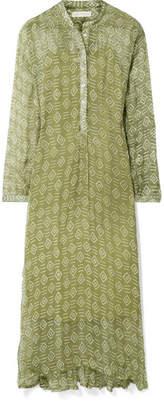 Cloe Cassandro - Andrea Printed Silk-crepon Maxi Dress - Light green