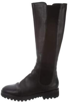 Sergio Rossi Shearling-Lined Knee-High Boots