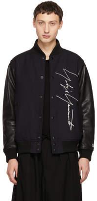 Yohji Yamamoto Navy New Era Edition Wool and Leather Bomber