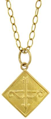 "Cathy Waterman Bow and Arrow ""Love"" Charm - Yellow Gold"