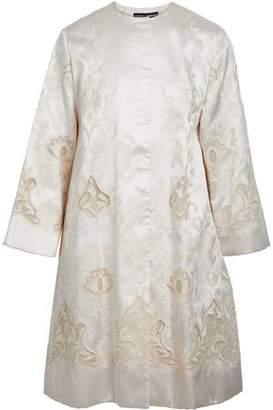 Dolce & Gabbana Embroidered Silk-Blend Satin-Twill Coat