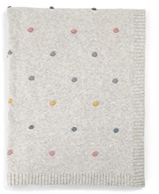 Mamas and Papas Knitted Blanket, Spot Multi - Pram - Moses - Crib, Nursery Bedding
