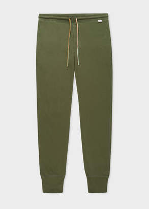 Paul Smith Men's Green Jersey Cotton Lounge Pants