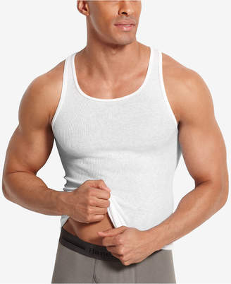 Hanes Men's Big & Tall 4-Pk. A-Line Cotton Tank Undershirts