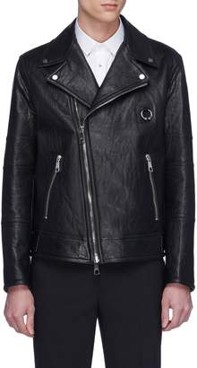 Neil Barrett Piercing patch leather biker jacket