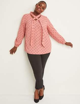 Lane Bryant Tie-Neck Chiffon Blouse