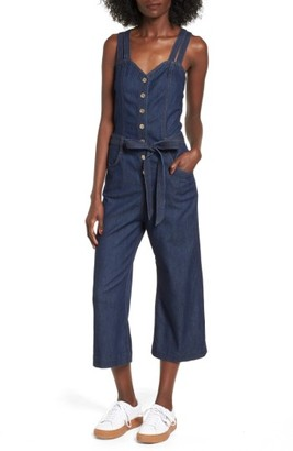 Women's 7 For All Mankind Denim Jumpsuit $299 thestylecure.com
