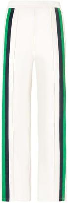 Tory Sport DOUBLE-STRIPE WIDE-LEG TRACK PANTS