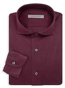 Corneliani Men's Jersey Pique Dress Shirt
