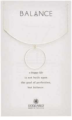 Dogeared Balance Silver Delicate Bar Necklace