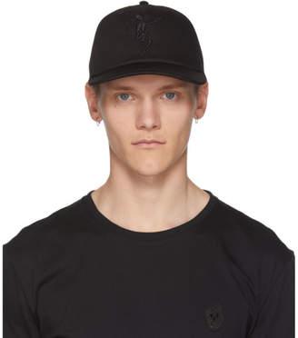 Alexander McQueen Black Dancing Skeleton Cap