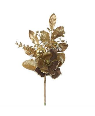 "Vickerman 22"" Gold Magnolia Artificial Christmas Spray, 3 Per Bag"