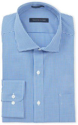 Tommy Hilfiger Bright Blue Gingham Regular Fit Dress Shirt