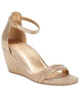 Kenneth Cole REACTION Cake Icing Wedge Dress Sandals $79 thestylecure.com