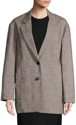 3.1 Phillip Lim Oversized Checkered Wool Blend Blazer