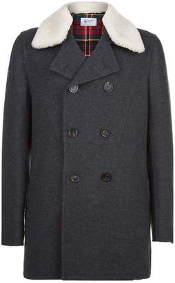 Johnstons of Elgin Shearling Collar Pea Coat
