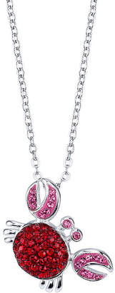 CRYSTAL SOPHISTICATION Crystal Sophistication Crystal and Sterling Silver Crab Pendant Necklace