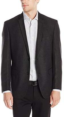 DKNY Men's Solid Two Button Side Vent Slim Sport Coat