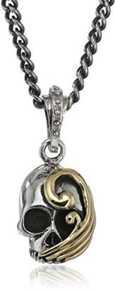 King Baby Studio Unisex Hamlet Wave Skull Pendant Necklace