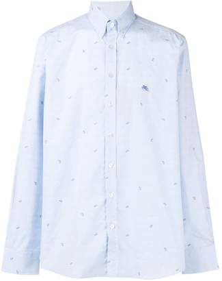 Etro paisley detail shirt