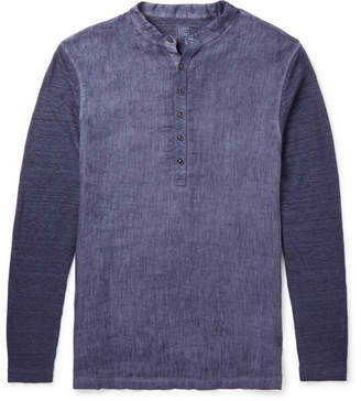 120% Slub Linen Henley Shirt