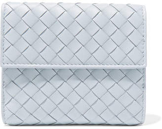 Bottega Veneta Intrecciato Leather Wallet - Sky blue