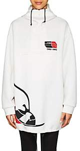 Prada Women's Cotton-Blend Jersey Oversized Hoodie - White