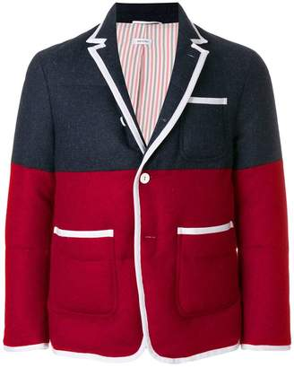 Thom Browne Quilted Down-Filled Bicolor Sport Coat