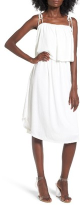 Women's Leith Plisse Popover Midi Dress $75 thestylecure.com