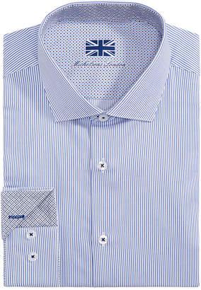 Michelsons of London Men Slim-Fit Stripe Dress Shirt