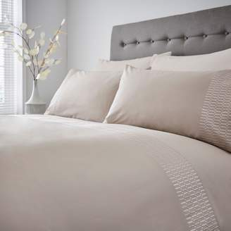 Hotel Collection Luxury Chiltern Embroidered Edge Pillowcase Pair