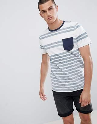 Jack and Jones Originals Stripe T-Shirt With Contrast Pocket