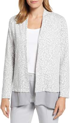 Chaus Animal Jacquard Cardigan