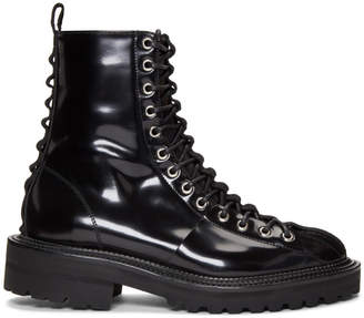 Yang Li Black Lace Up Boots