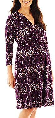 JCPenney Maternity Belted Print Dress