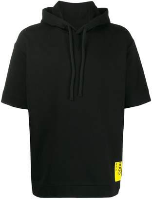 HUGO BOSS hooded logo T-shirt