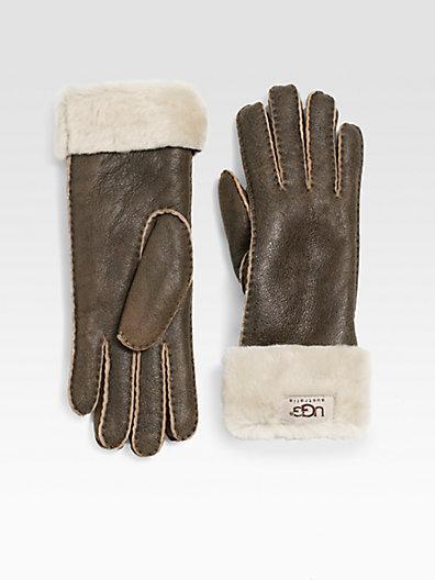 UGG Shearling Turn-Cuff Gloves
