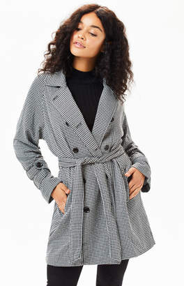 b203915021f1 at PacSun · MinkPink Houndstooth Trench Coat