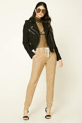 Forever 21 Distressed Lace-Up Sweatpants