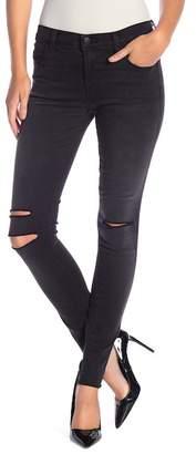J Brand Mid-Rise Slit Knee Super Skinny Jeans