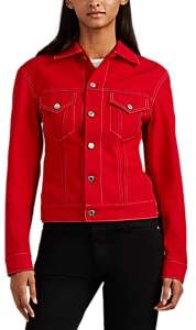 Helmut Lang Women's Denim Trucker Jacket - Red