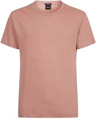 HUGO BOSS Linen Round Neck T-Shirt