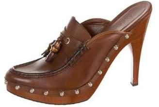 Gucci Studded Platform Mules
